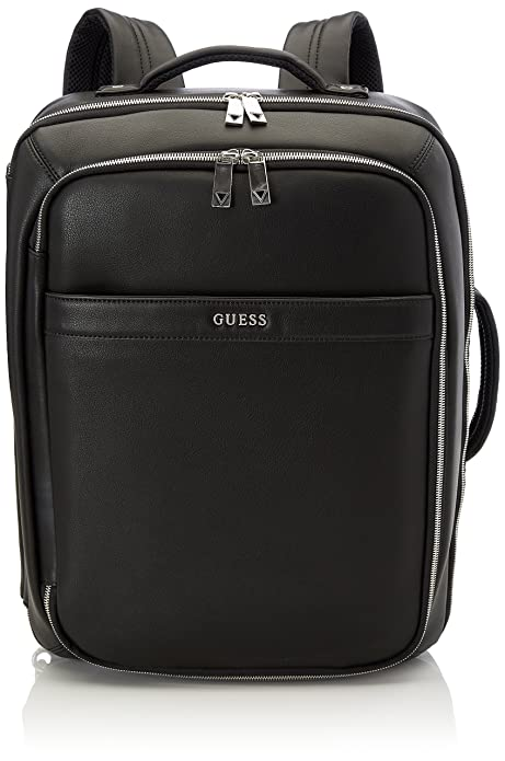 Guess - Bags Backpack, Mochilas Hombre, Negro (Black), 18x45x34 cm (