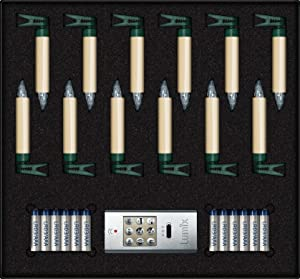 Krinner Lumix 75522Superlight inalámbrico mini velas de Navidad (Base (en Y Exterior), 0.01W, Marfil, 1.5x 1.5x 9cm