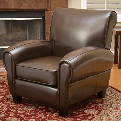 Ridgemark Brown Leather Club Chair