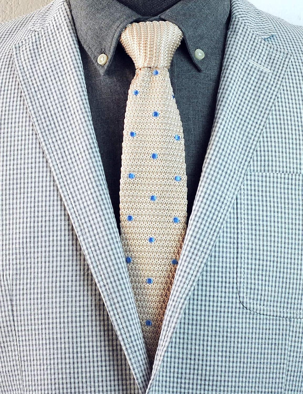 3-Pack Flat End Sock Ties Classic for Men ZENXUS 2.2 Skinny Knit Neckties