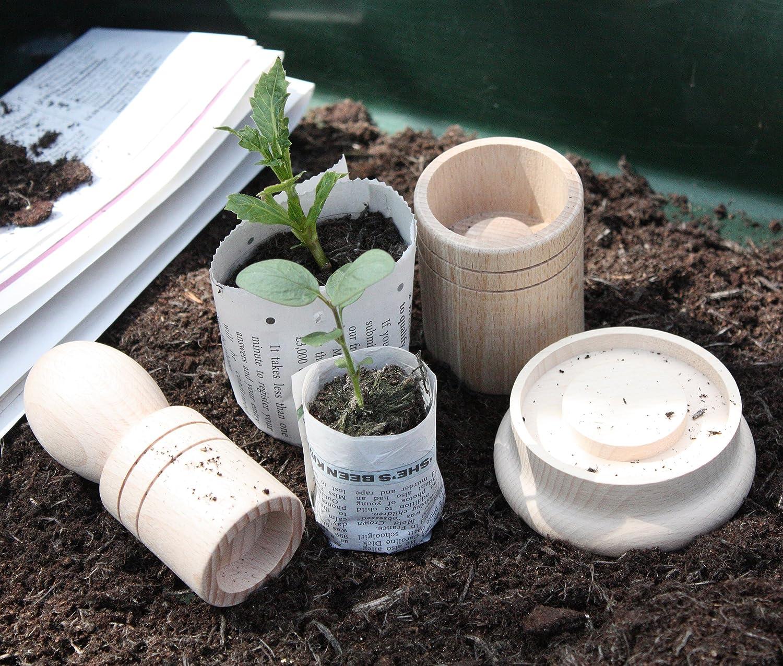 seedling paper potter  makes  sized paper pots amazoncouk  - seedling paper potter  makes  sized paper pots amazoncouk garden outdoors