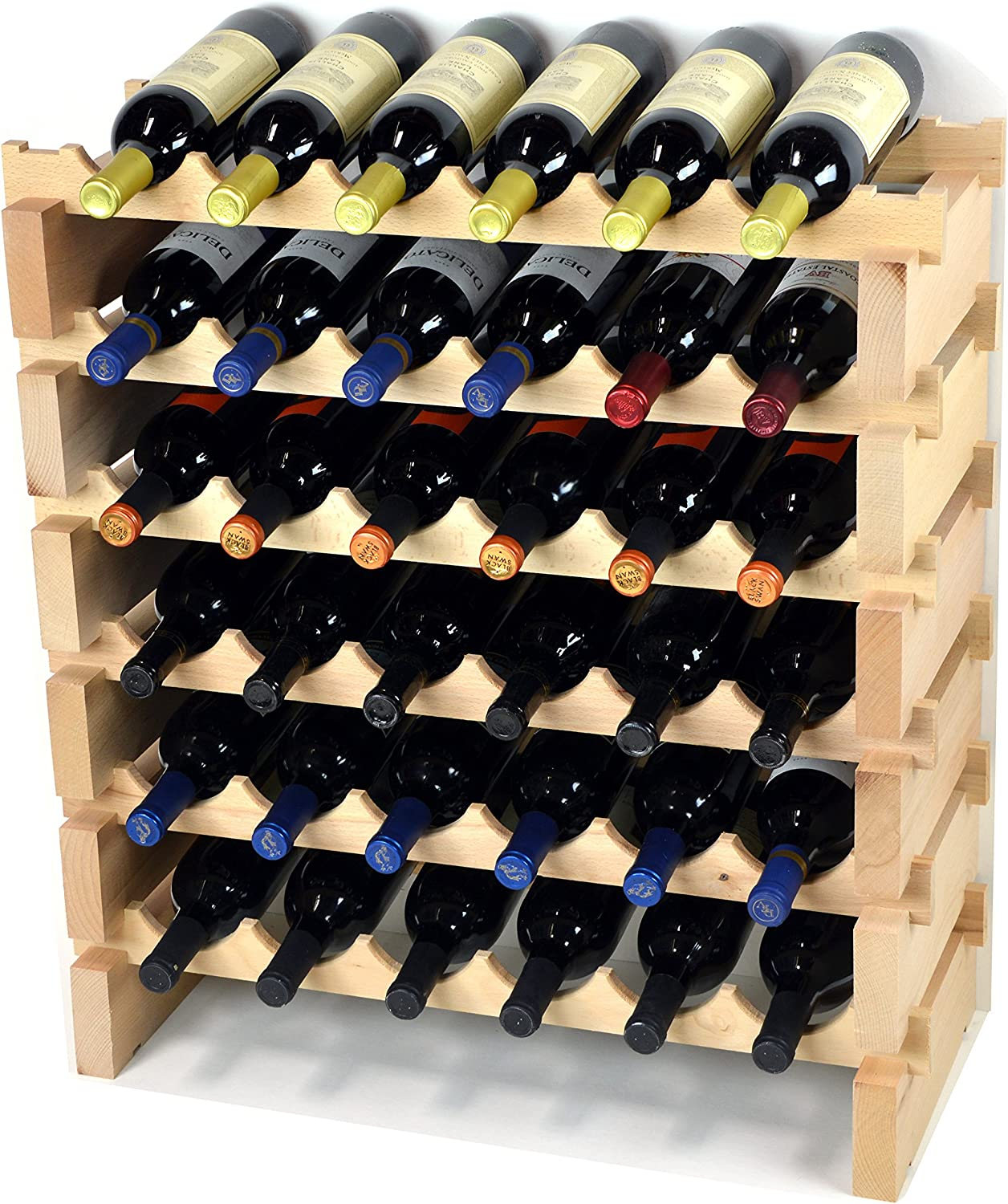 Modular Wine Rack Pine Wood
