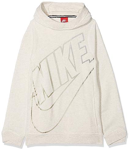 Nike G NSW Modern Po Gfx Sudadera, Niñas, Beige (Light Bone/Htr