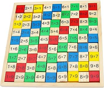 Table De Multiplication De Bois Jeu De Maths De Plateau Avec 91