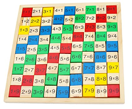 Towo Wooden Times Table Board Wooden Educational Toys Multiplication Games As Math Learning Tools Times Tables Math Toy For 3 4 5 6 Years Old