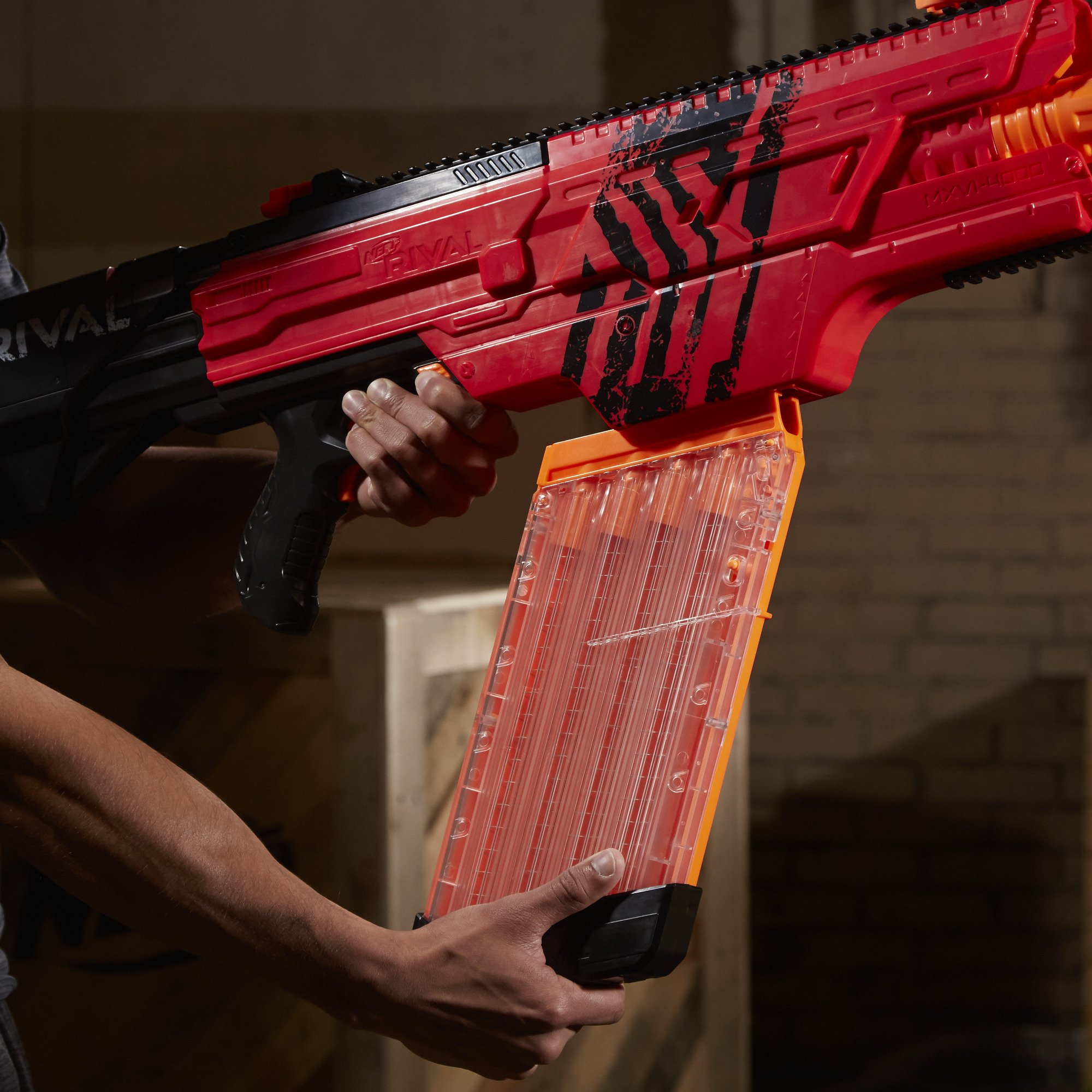 Nerf Rival Khaos MXVI-4000 Blaster (Red) by NERF (Image #5)