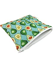 Itzy Ritzy Happens Reusable Snack and Everything Bag, Guac Star, green