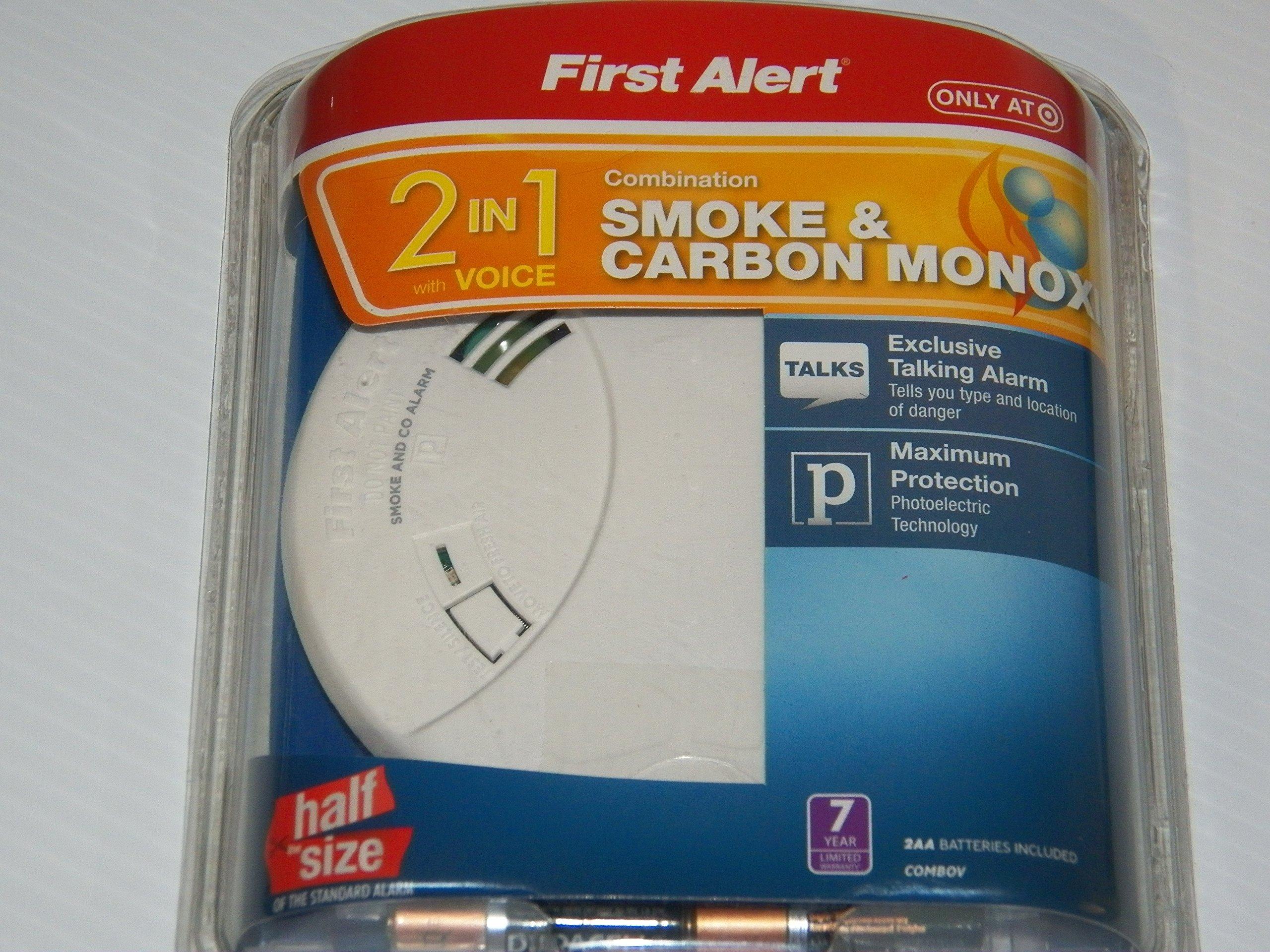 First Alert COMBOV Combination DC Smoke & Carbon Monoxide Alarm with Voice Alert