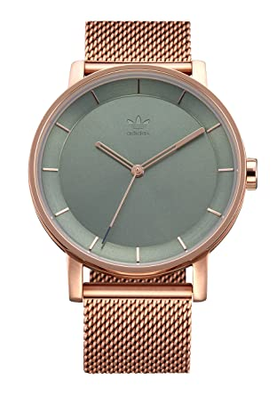 premium selection 39eda ed09f Adidas Watches District M1. Milanese Stainless Steel Bracelet, 20mm Width (Rose  Gold Tent