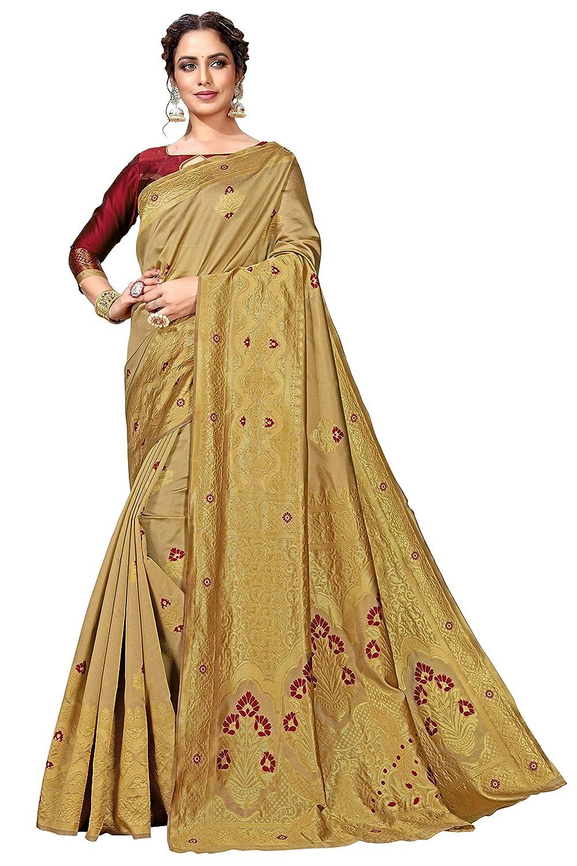 Kanchipuram Art Silk Saree With Blouse Piece