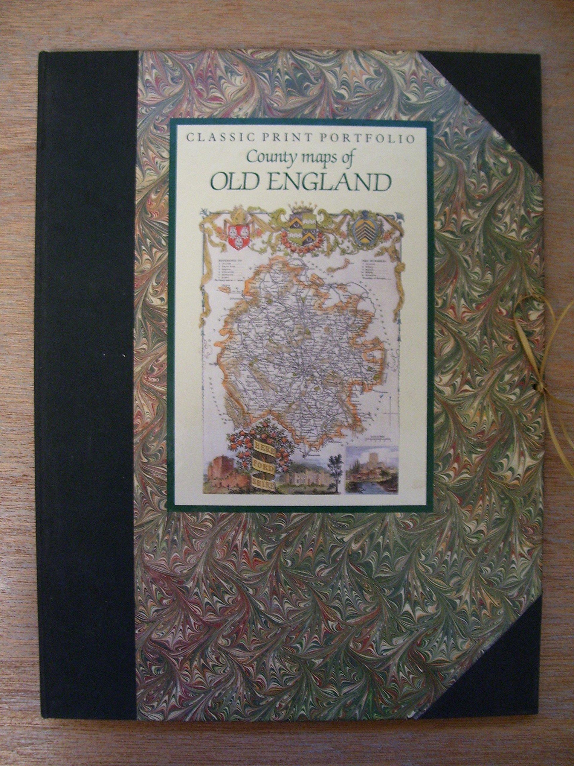 Classic Print Portfolio - County Maps of Old England: Amazon