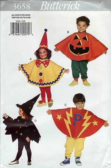 Butterick 3658-Halloween Pullover Kostüme Kürbis Clown Hexe Super ...