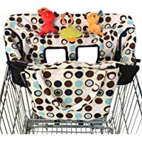 Crocnfrog 2-in-1 Shopping Cart Cover and High Chair Cover for Baby (Medium)