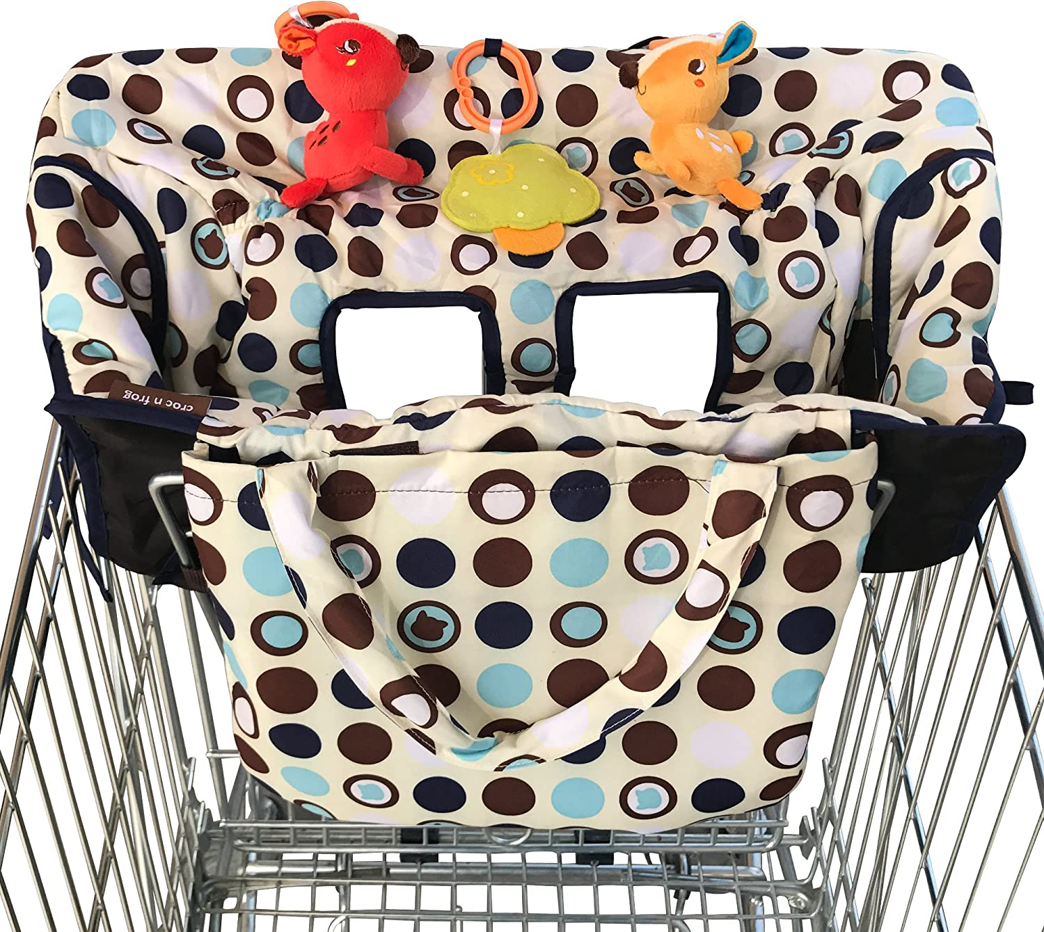 flannel camouflage frogs high chair cover Shopping Cart cover
