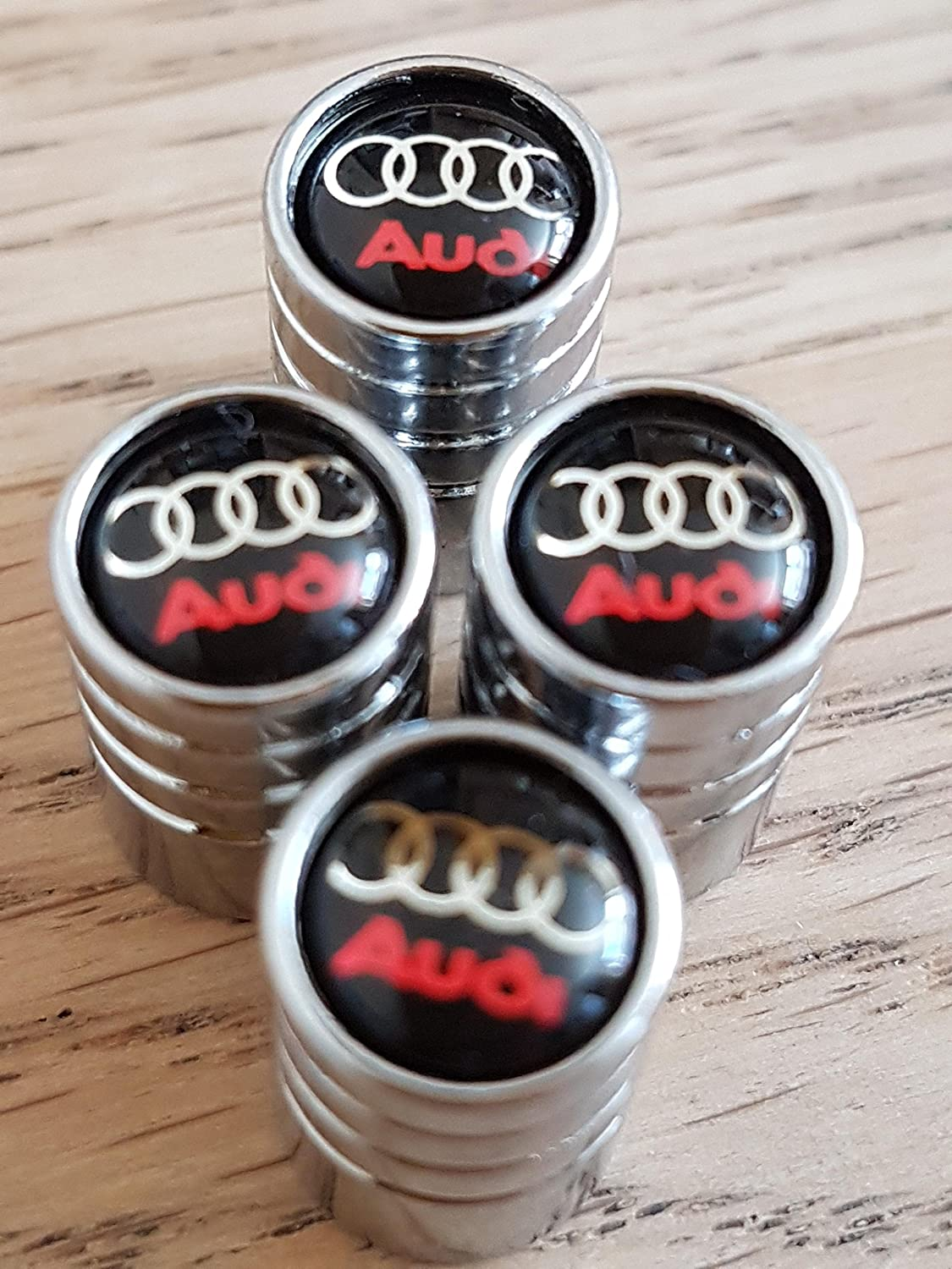 Speed Demons® AUDI CHROM DELUXE AUTO REIFEN DUST Ventilkappe EXKLUSIV FÜR US-A1 A3 A4 A5 A6 A7 A8 Q3 Q5 Q7 R8 TT RS E-TRON S LINE RS4 RS5 RS6 Speed Demons ®