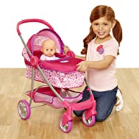 Chicco Deluxe Pram for Baby Dolls, Pink [Amazon Exclusive]
