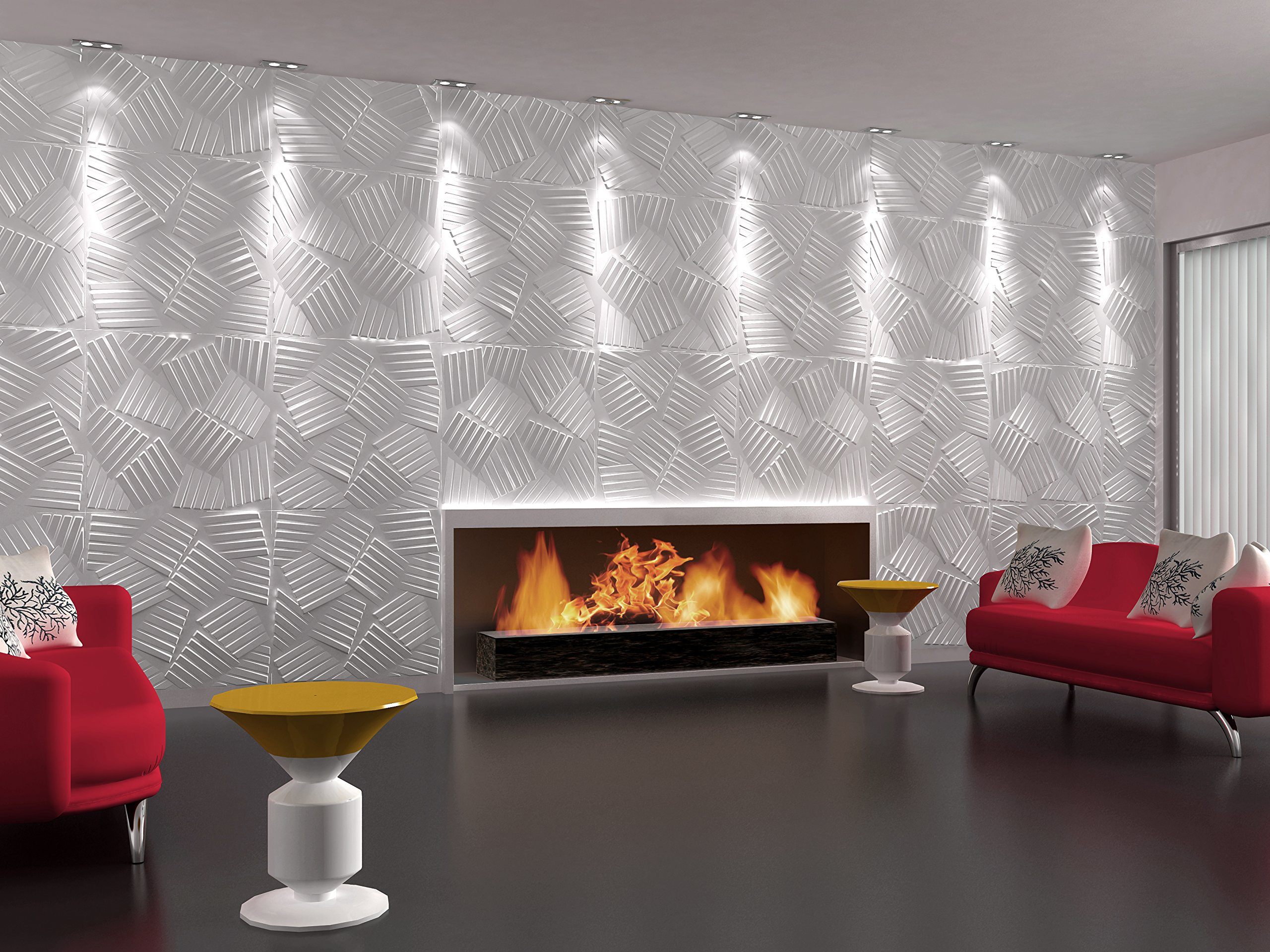 1M Jasper 3D Dimensional Unique Wall Panels Made With Light & Eco-Friendly Bamboo Material