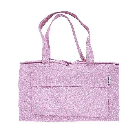 Nait Nait - Playa Roll Mini Florencia Rosa - Toalla de Playa Enrollable Convertible en Bolsa