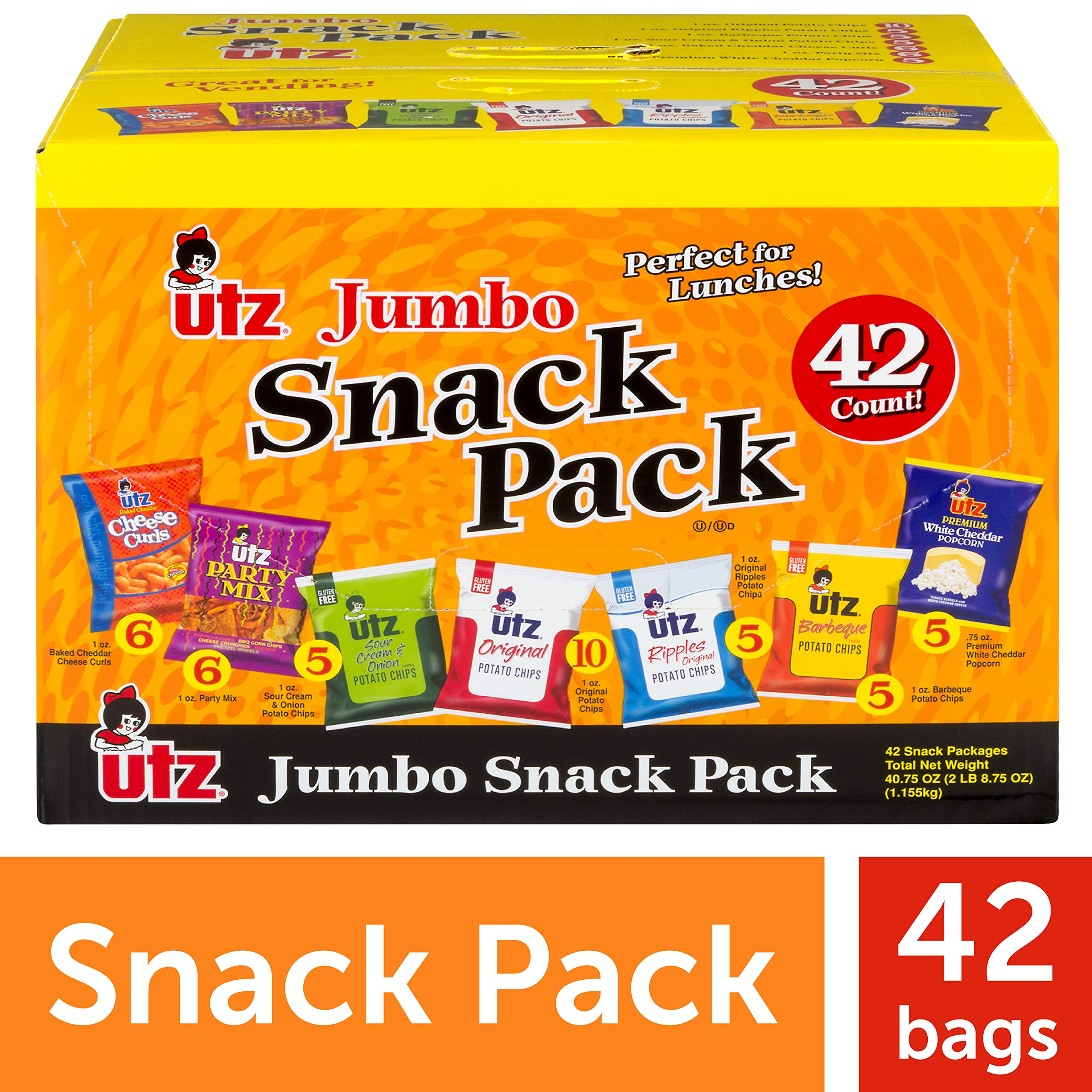 Utz Jumbo Snack Pack, 43.25 Ounce by UTZ