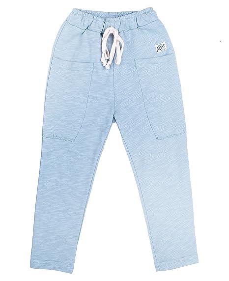 0ba12b073c2 Oceankids Boys' Pants Cotton Elastic Waist Slacks Infant Casual Joggers  Trousers Aqua 2 Years
