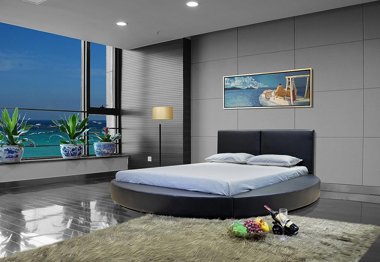 Amazon.com: GREATIME B1159 Modern Round Bed, Queen, Black (Black): Kitchen  U0026 Dining