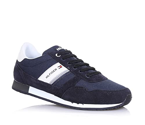 79b1370e28e4 TOMMY HILFIGER MAXWELL JR 3C MIDNIGHT SNEAKERS CAMOSCIO BLU  Amazon.co.uk   Shoes   Bags