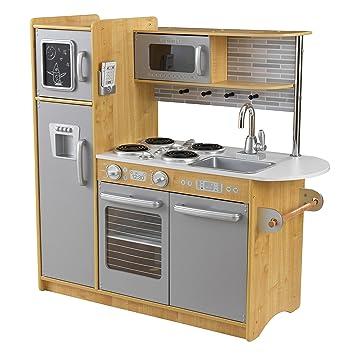 amazon.com: kidkraft uptown natural kitchen: toys & games - Kidkraft Espresso Küche