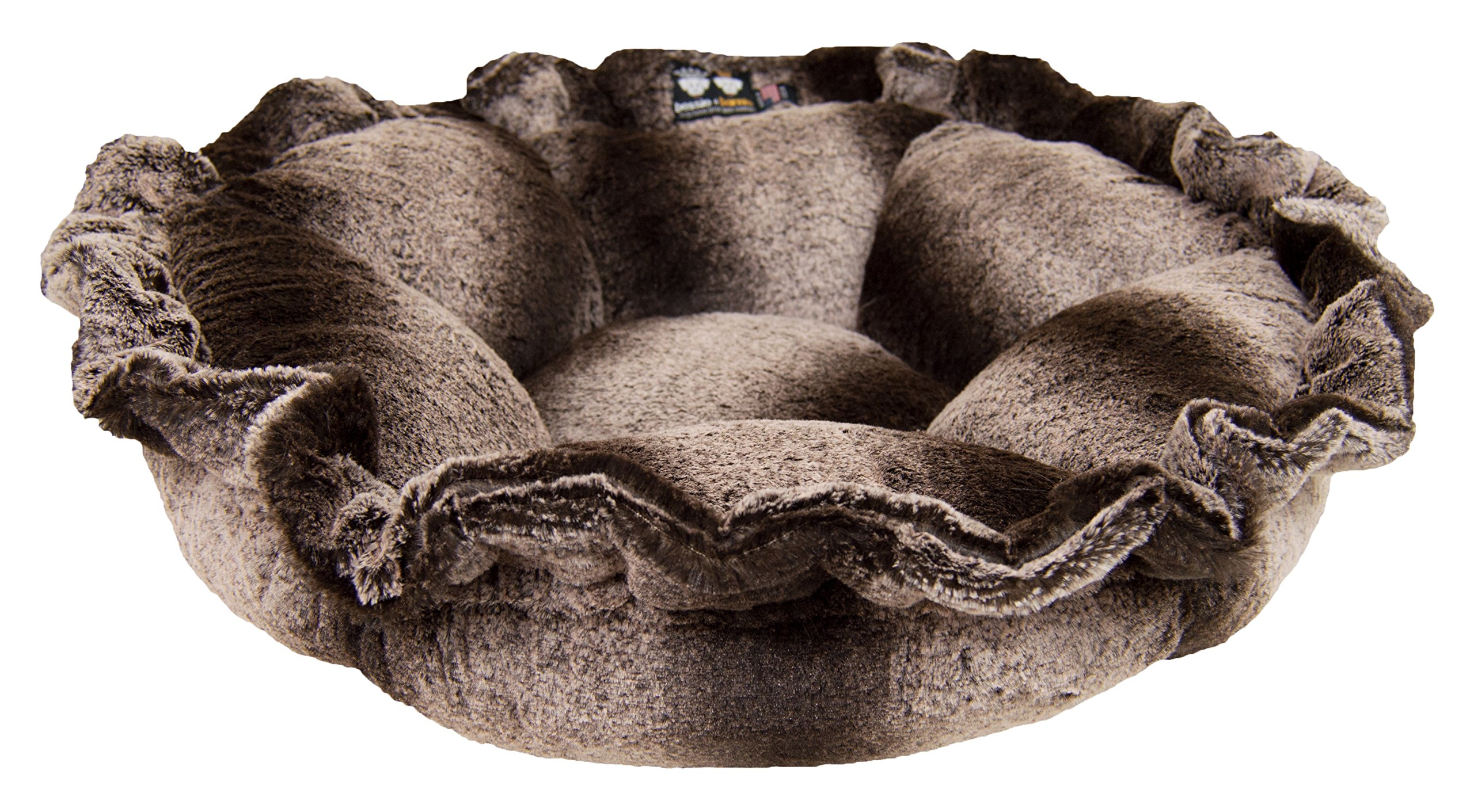 BESSIE AND BARNIE Ultra Plush Frosted Glacier Luxury Deluxe Dog/Pet Cuddle Pod Bed by BESSIE AND BARNIE
