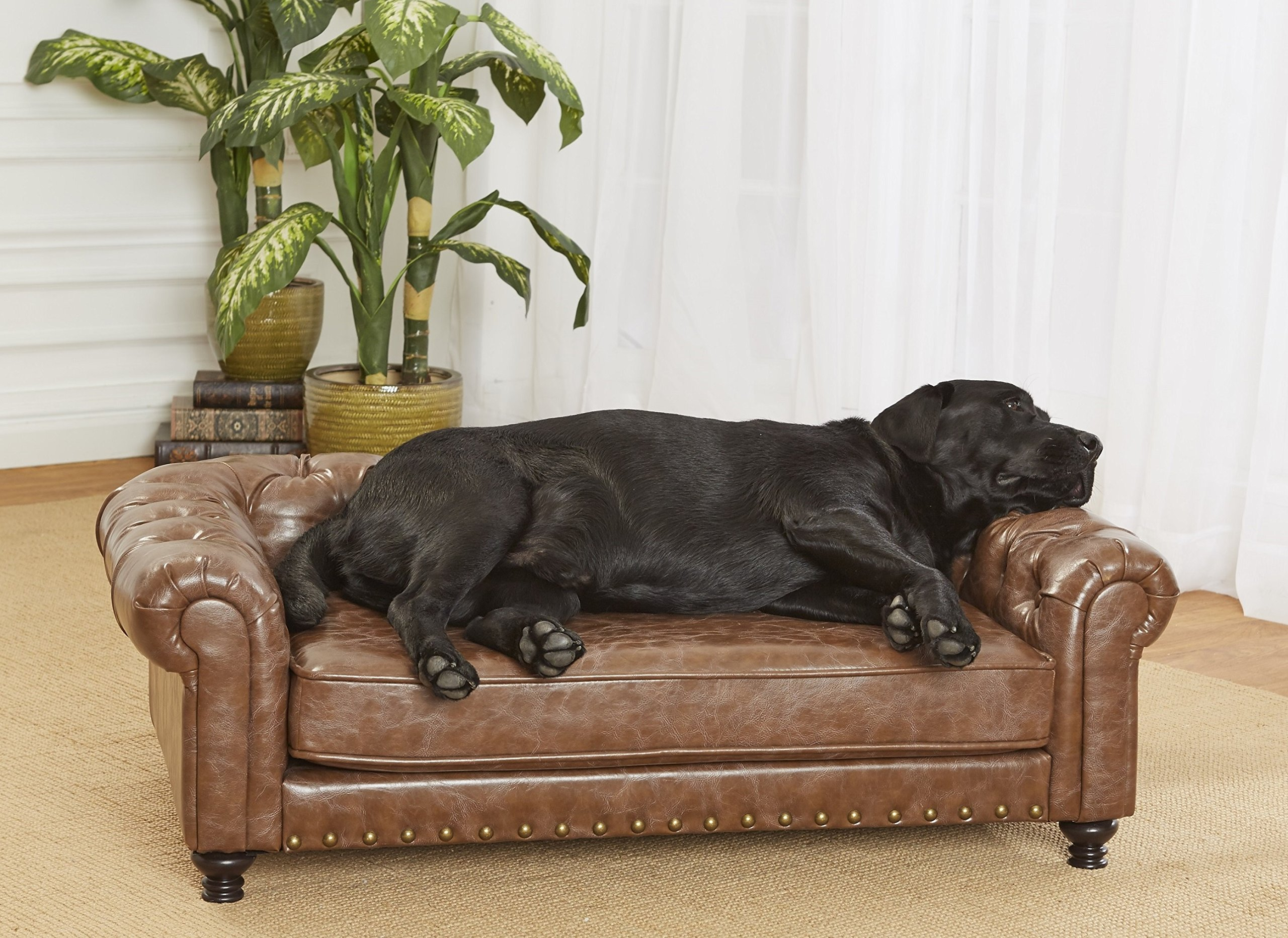 Enchanted Home Pet Wentworth Pet Sofa, Light Brown, Large