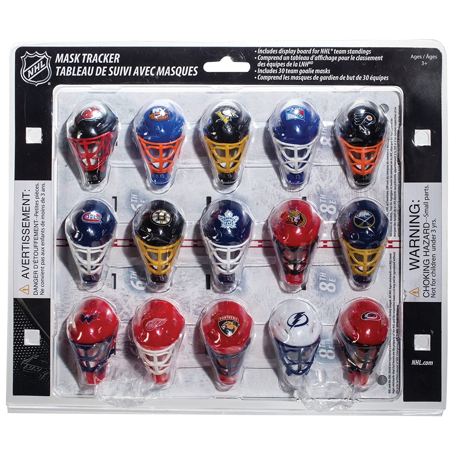 Amazon Com Franklin Sports Nhl Micro Mask League Standings Tracker