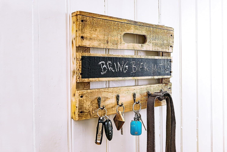 Schlüsselbrett aus Altholz Holz alter Obstkiste mit Tafellack für kleine Nachrichten, auch für Leinen, Handtücher, Handmade, Unikat, Upcycling auch für Leinen Handtücher