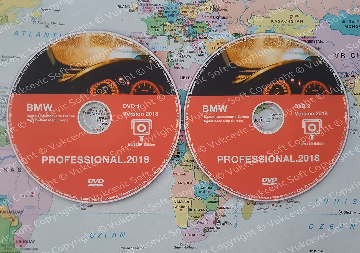 BMW Professional CCC Update DVD1  + DVD2  2018  Radar Edition Vukcevic Soft
