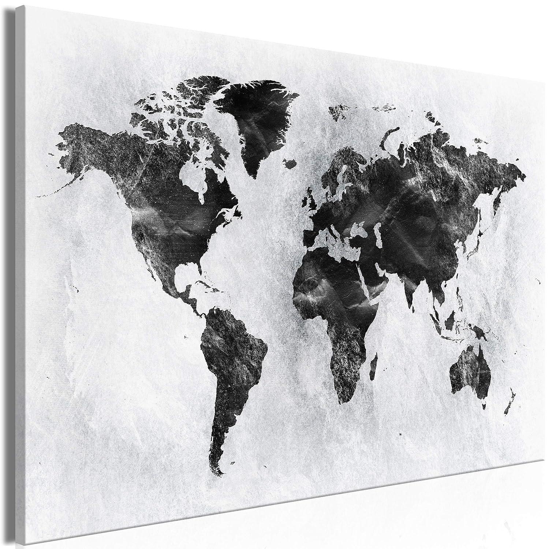 Decomonkey   Mega XXXL Bilder Weltkarte   Wandbild Leinwand 160x80 cm Einteiliger XXL Kunstdruck zum aufhängen   Landkarte Welt