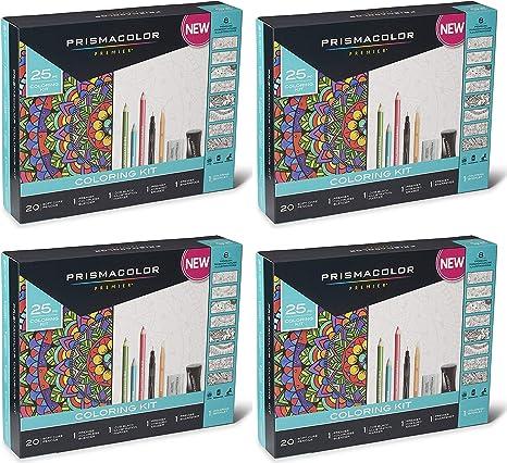 Prismacolor Premier 25pc Adult Coloring Book Kit Pencils Blender Marker Eraser