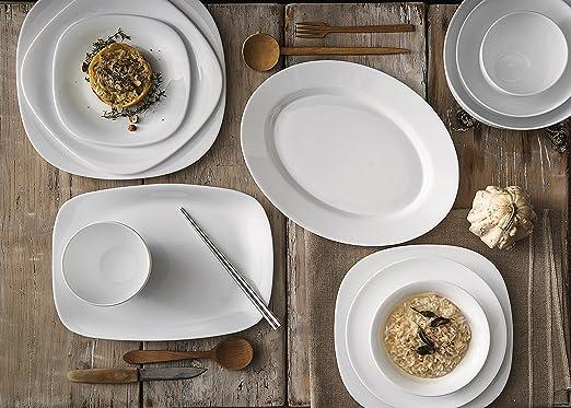 Amazon.com   Bormioli Rocco Parma Soup Plates Set of 6 White Rimmed Soup Bowls Accent Plates & Amazon.com   Bormioli Rocco Parma Soup Plates Set of 6 White ...