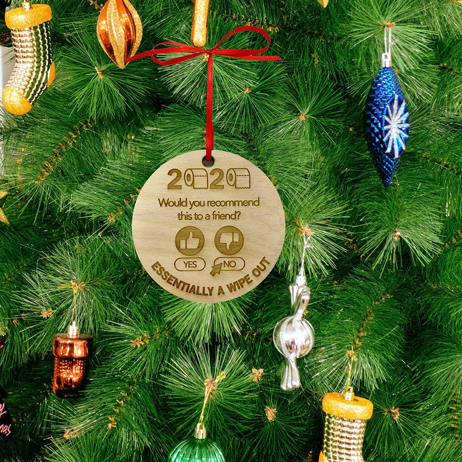 2020 Christmas Ornament  The Year Of The Great Wipeout