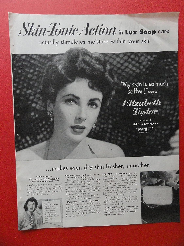 1952 Elizabeth Taylor,Lux Toilet Soap. print advertisement ...