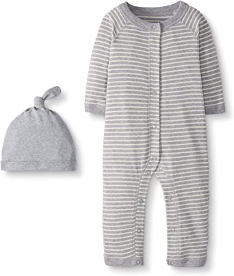 3-6 months Moon and Back by Hanna Andersson Baby 2-Pack Organic Sleeper Gown Gray