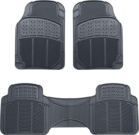 AmazonBasics 3 Piece Rubber Car Floor Mat