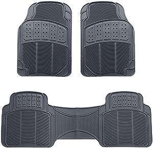 AmazonBasics 3 Piece Car Floor Mat, Gray