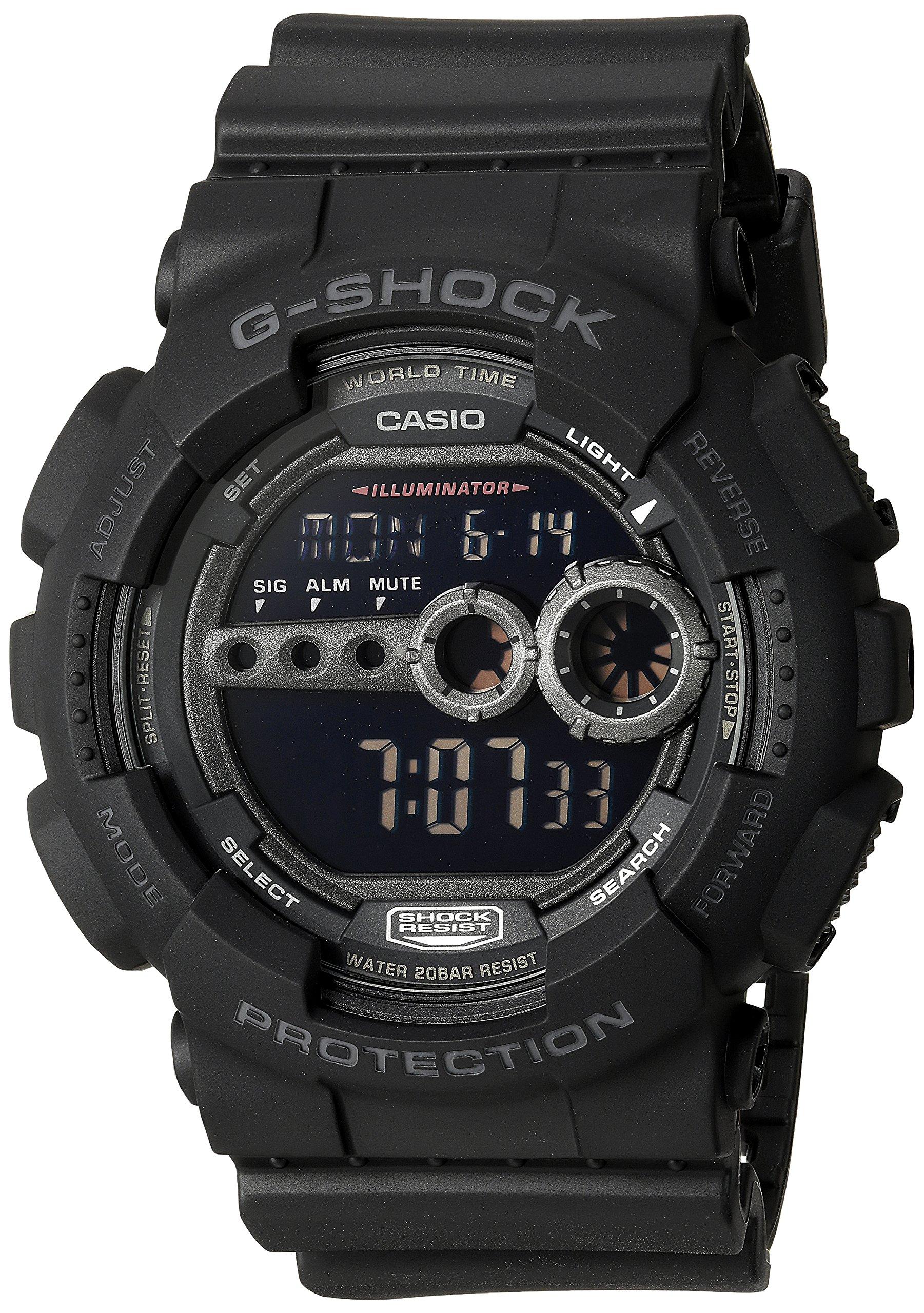 Casio Men's GD100-1BCR G-Shock X-Large Black Multi-Functional Digital Sport Watch by Casio