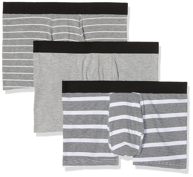TALLA Large (Talla del fabricante: 53). New Look Grey Linear, Bañador para Hombre