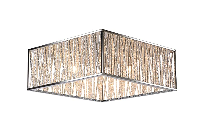 Lucide viro flush ceiling light g9 chrome
