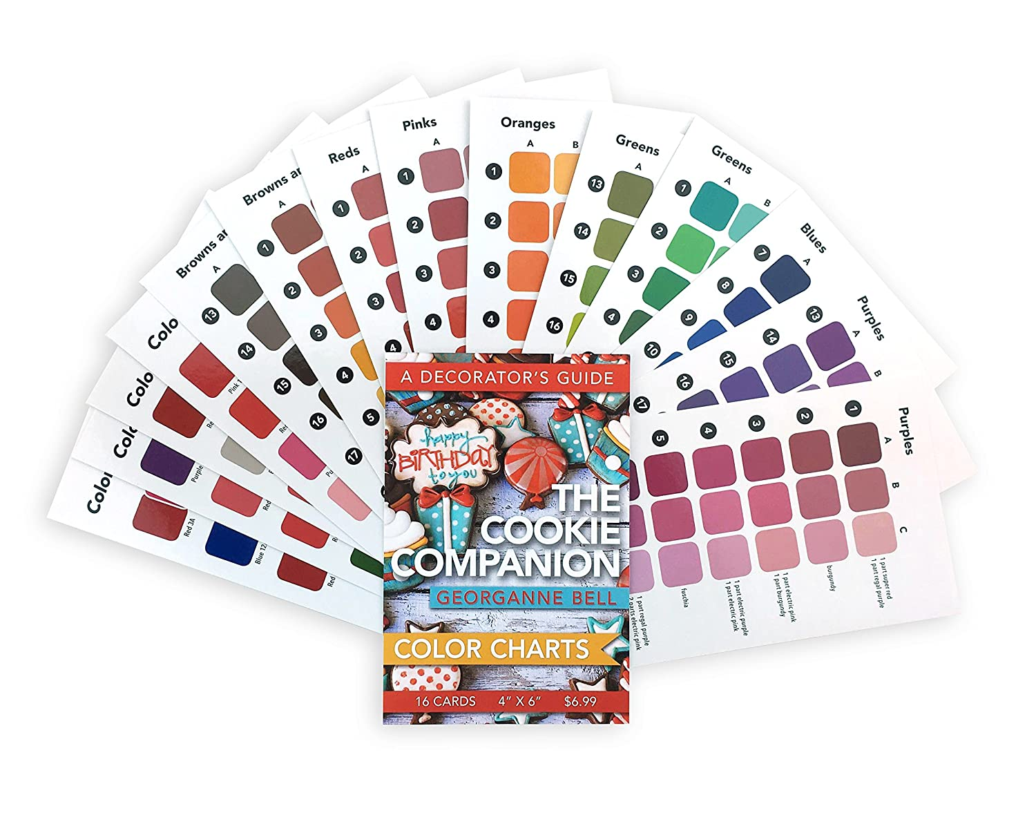 Amazon 16 cookie decorating color charts 4x6 for use amazon 16 cookie decorating color charts 4x6 for use with the cookie companion a decorators guide by georganne bell kitchen dining nvjuhfo Choice Image