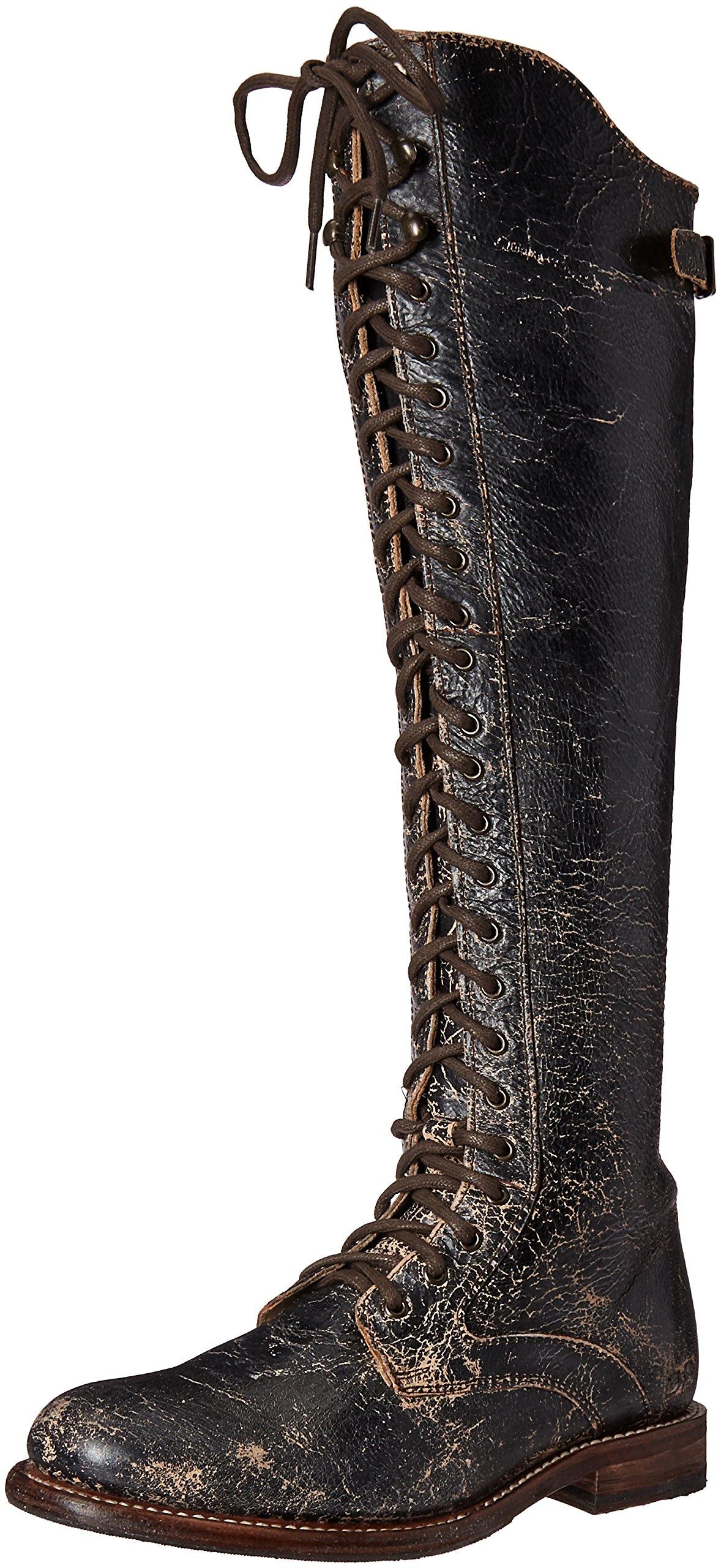 bed stu Women's Della Boot, Black Lux, 8.5 M US