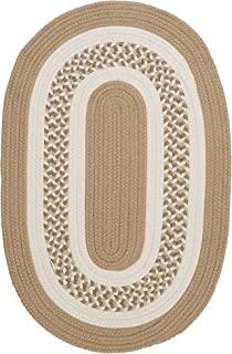 product image for Flowers Bay Oval Area Rug, 8 by 11-Feet, Cuban Sand
