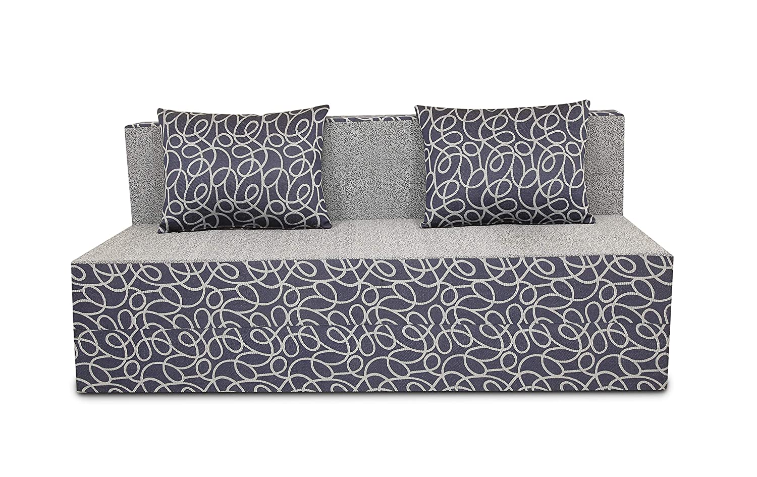 Adorn India Easy Three Seater Sofa Cum Bed Poly Cotton Blue