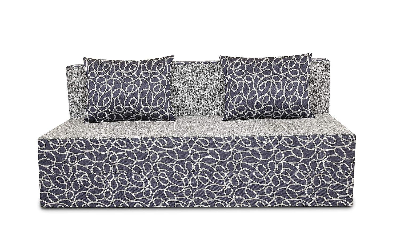 Adorn India Easy Three Seater Sofa Cum Bed Poly Cotton Blue