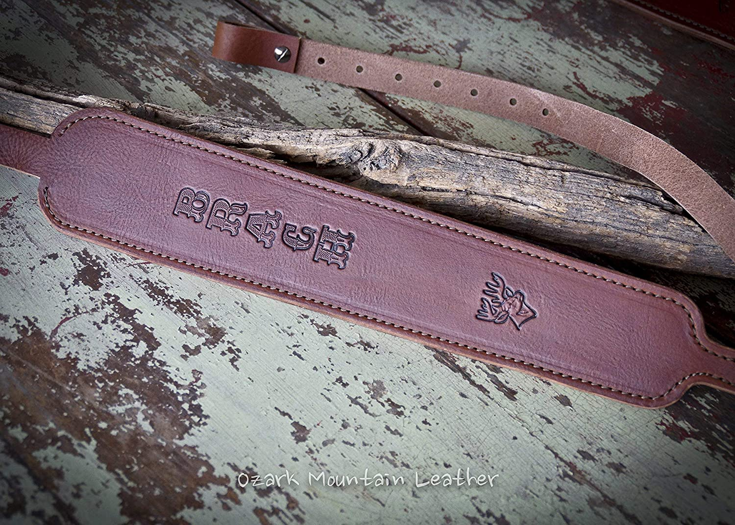 Cobra style Leather Rifle Sling Customizable BROWN