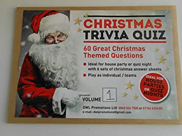 Christmas Quiz Volume 1 60 Themed Questions And 6 Xmas Answer